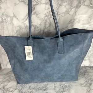 Saks Fifth Avenue Bags - 2/$40 New Saks Fifth Avenue Large Suede Tote